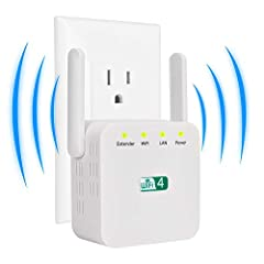 MAFUEAY Stable Signal Boost: The WiFi range extender offers up to 300Mbps for 2.4GHz and it can automatically choose high-quality band for better performance. Full Signal Coverage: Equipped with 2 external antennas that reliable data transmission rat...