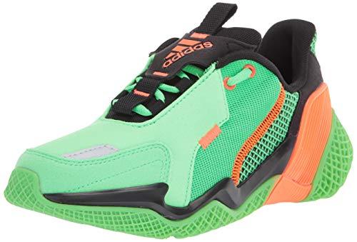 adidas Kids Unisex's 4UTURE Runner Running Shoe, Shock Lime/Solar Orange/core Black, 3.5 M US Little Kid