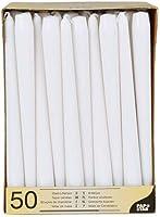 Papstar 17966 50 lampkaarsen Ø 2,2 x 25 cm, wit