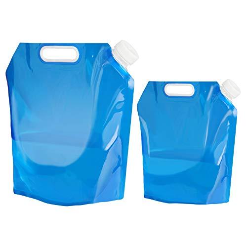 Recipiente para agua de Aboat, plegable, para transportar, ideal para deportes, campamento, senderismo, pícnic, barbacoa, 5 y 10 litros
