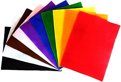 Amazing Arts and Crafts Feltro Fogli A4, 10Fogli, Colori Assortiti