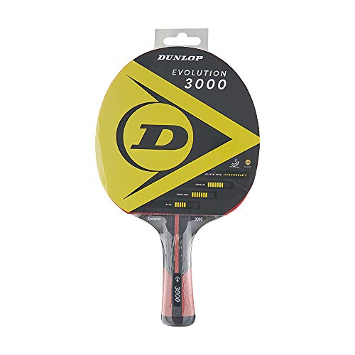 Dunlop Evolution 3000 - Raqueta de Ping Pong (Certificado ITTF), Jugadores avanzados