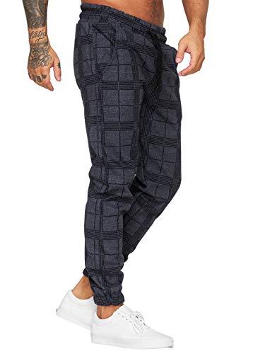 OneRedox Herren   Jogginghose   Trainingshose   Sport Fitness   Gym   Training   Slim Fit   Sweatpants Streifen   Jogging-Hose   Stripe Pants   Modell 1228 (XL, Navy)