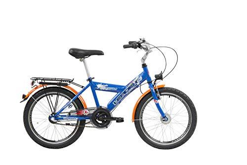 Leader Tarantula Bici para niños, Unisex-Youth, Azul-Naranja, 20