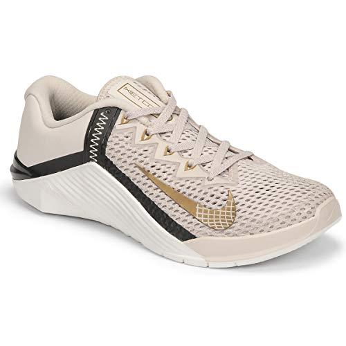 Nike Wmns Metcon 6 Deportivas Mujeres Negro/Oro - 38 - Fitness/Training Shoes