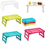 Plastic Forte Tray with Legs Folding Table for Breakfast or Lunch in Bed | 51 x 33 cm, Multicoloured, One Size, Assorted Model