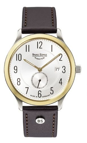 Bruno Söhnle Herren Analog Quarz Uhr mit Leder Armband 17-23181-220