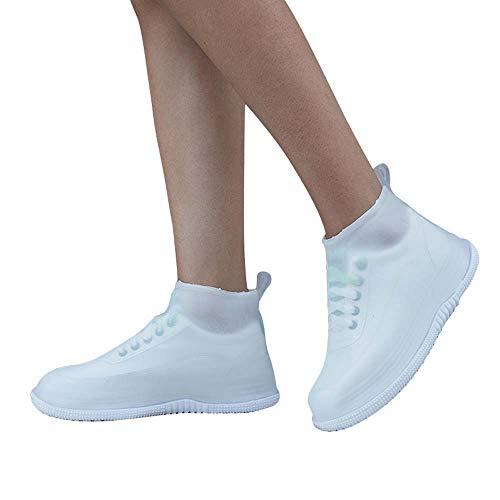 EEKUY Wasserdichtes Schuhabdeckungen, PVC Anti-Rutsch-Durable Fuß Abdeckung Wiederverwendbare hohe Elastizität-Überschuhe Outdoor-Schuh Schutzschuh,M