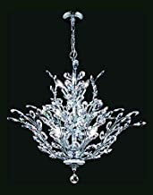 Florale Collection Chandelier in Silver Finish