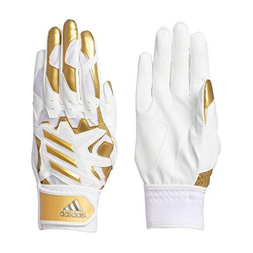 adidas(アディダス) 少年用 バッティンググラブ 手袋 J r ジュニア 5-TOOL GLJ30 ホワイト/シルバーメタリック(FK1538) S