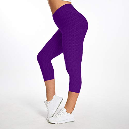 XAJ Pantalones Patrón de Burbujas Fitness para Mujer Pants Atléticos Deportivos Correr, Jacquard de Color Puro Mujer Deporte para Ejercicio Gimnasio Entrenamiento Correr Pilates Ciclismo Yoga