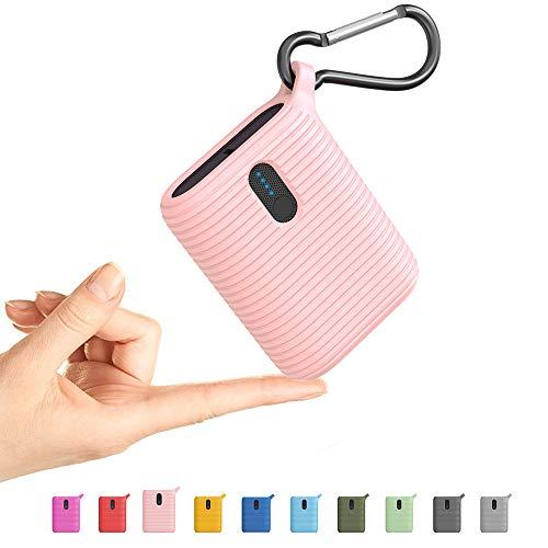 OUTXE Mini Power Bank 10000 mAh, caricatore portatile con due porte di uscita, batteria esterna USB C più leggera ultra compatta per iPhone, Samsung e altri (Classic Blue)