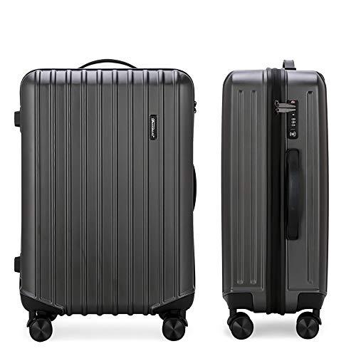YASB Ultra-Light ABS Cabin Hand Luggage, with 4-Wheel Fine-Tuning TSA Customs Lock Multi-Speed Adjustment Lever Luggage,Gray,S
