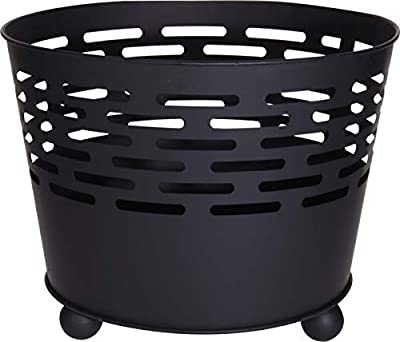 Abrus Large 45cm Fire Pit - Outdoor Wood Burning Barbecue Grill Steel Firepit Bowl - For Camping, Beach Bonfire, Picnic, Garden Backyards by Abrus