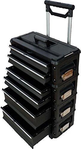Metall Werkzeugtrolley XXL Serie 305 mit Schubladenverriegelung und Schloss von AS-S, Farbe:Schwarz