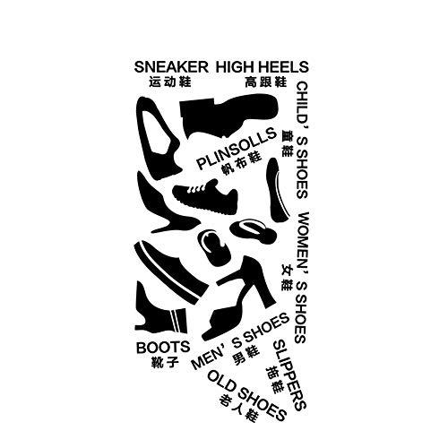 AzuNaisi Logo Creativa del Zapato Etiquetas de clasificación de la Sala del Zapato Gabinete Autoadhesivo Decal extraíble Decorativo Pegatinas