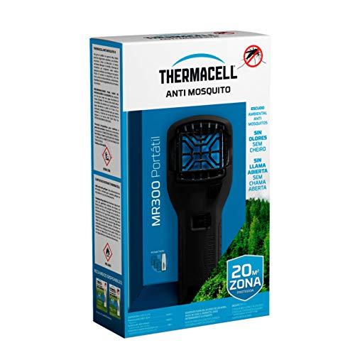 ThermaCELL - Anti Mosquito Portátil para Exterior. 20 m2 de protección sin DEET, Incluye difusor + Recarga + 3 recambios, Color Negro