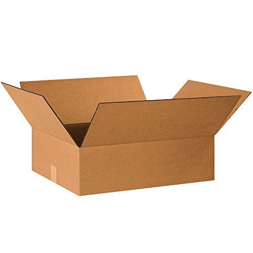 "BOX USA B2016650PK Flat Corrugated Boxes, 20"" L x 16"" W x 6"" H, Kraft (Pack of 50) Florida"