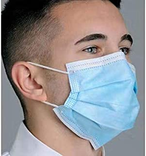 Utilityzone Nose Mask-3ply Disposable Mouth Masks 10pcs Nose Mask Dust Mask Pollution Mask (Color May Vary)
