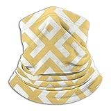 YBEAYQYXR - Passamontagna in microfibra con motivo geometrico, unisex, con motivo a barrette dorate, per esterni