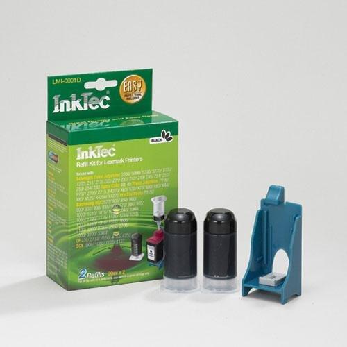 Nachfüllset Inktec für Druckerpatronen Lexmark Nr. 70,71,75,50,55und Samsung M50. Schwarz Pig