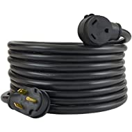 Conntek 14363, 30 Amp RV Extension Cord, Black (25-Feet)