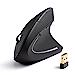 Anker 2.4G Wireless Vertical Ergonomic Optical Mouse, 800 / 1200 /1600 DPI, 5 Buttons for Laptop, Desktop, PC, Macbook - Black (Renewed)