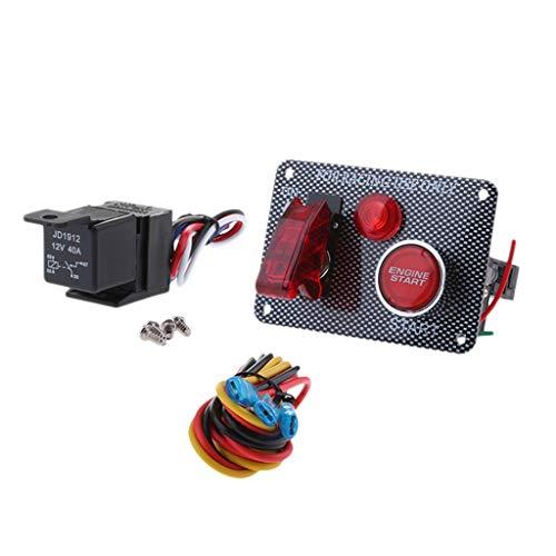 Toygogo Panel de Interruptor de Encendido Universal Racing 12V Marine