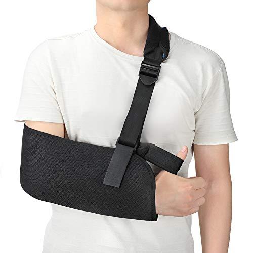 Armschlinge, Schulter Wegfahrsperre Bandage für gebrochene Arme, Verstellbare Weiche Gepolsterte Schultergurt für Gebrochene Handgelenk Schulter Immobilize Fit für Erwachsene Unisex Schwarz