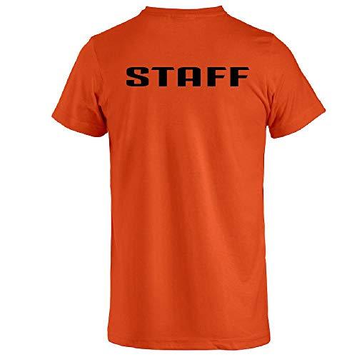 BrolloGroup Maglietta T-Shirt Staff Oppure Personalizzabile Come Vuoi PS 27431 Staff (Arancione, M)