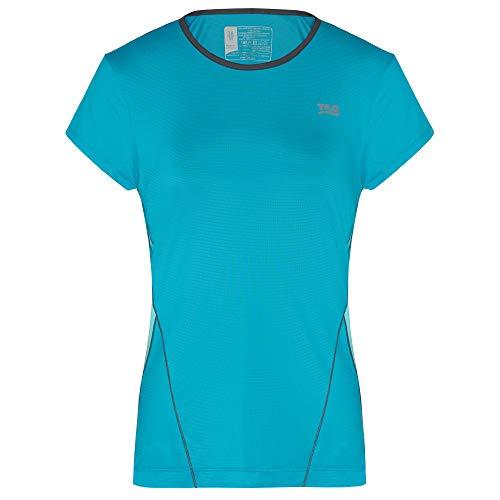 TAO Sportswear Fiore T-shirt fonctionnel respirant et durable pour femme, Bleu/vert, 36