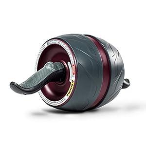 Perfect Fitness Carver PRO con Ginocchiere, Ab Roller Ruota per Criceti, Attrezzature per Il Fitness per La Casa di Ginnastica Unisex-Adult, Nero, Confezione Da 2