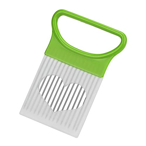 AKOAK 1 Pack Kitchen Creative Tools Meat Tenderizer Stainless Steel Onion Needle Loose Meat Needle Round Slicer Kitchen Gadget (green)