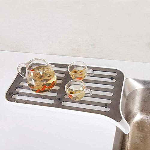 anruo Roestvrijstalen komrek opberggerei boven de gootsteen van het keukenrek