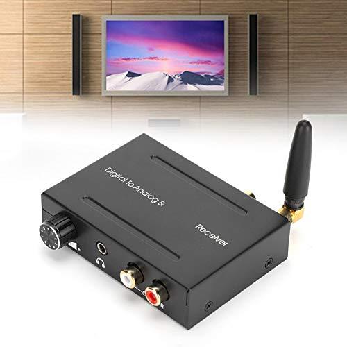 Folany Digital a analógico, Caja convertidora de Audio para reuniones, Fibra óptica Puerto de Audio de 3,5 mm Enseñanza de Hierro con Receptor Bluetooth Soporte RCA para Xbox PS4(AY91)