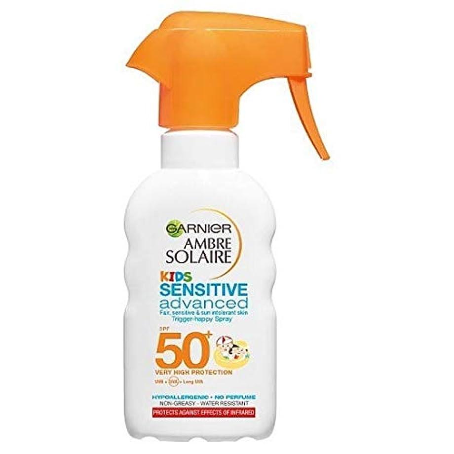 炭素目覚めるスリム[Garnier ] アンブレSolaire子供の日クリームトリガースプレーSpf50 + 200ミリリットル - Ambre Solaire Kids Sun Cream Trigger Spray SPF50+ 200ml [並行輸入品]