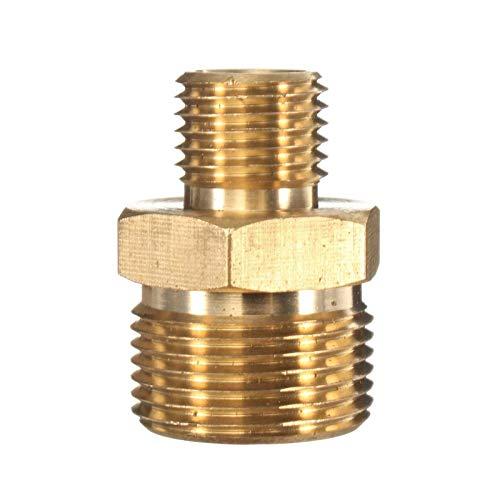 LHjin-Accesorio de latón Duradero, 1pcs M22 Macho a 1/4' Macho de latón arandela de la presión de la Manguera de conexión rápida, Máquina de pulverización Herrajes Accesorios