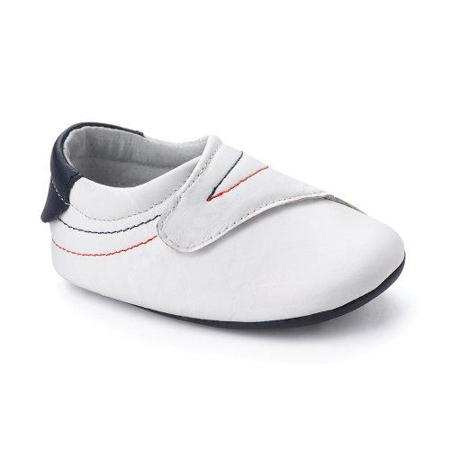 Bobux 460675, Unisex Baby Krabbelschuhe, Weiß (white), 16 EU (2-4m)