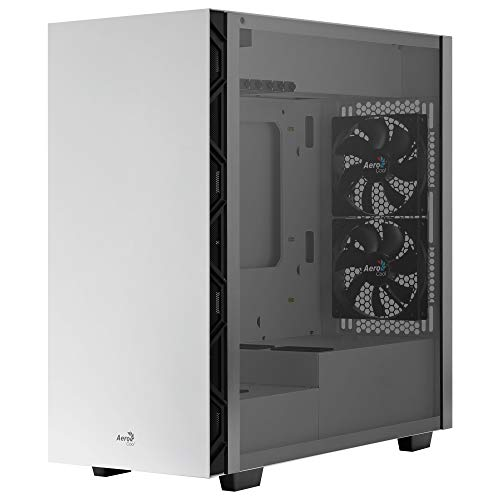 Aerocool FLO, Caja PC, 5 Ventiladores 12cm, Cristal Templado, Rejilla, Blanco