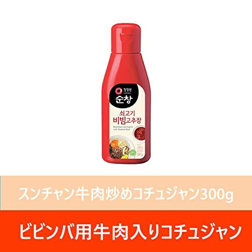 清浄園スンチャン牛肉入りビビンコチュジャン300gX1本 韓国みそ ビビンパップ 調味用 使いやすい 簡単料理 韓国食品 辛い 一品料理