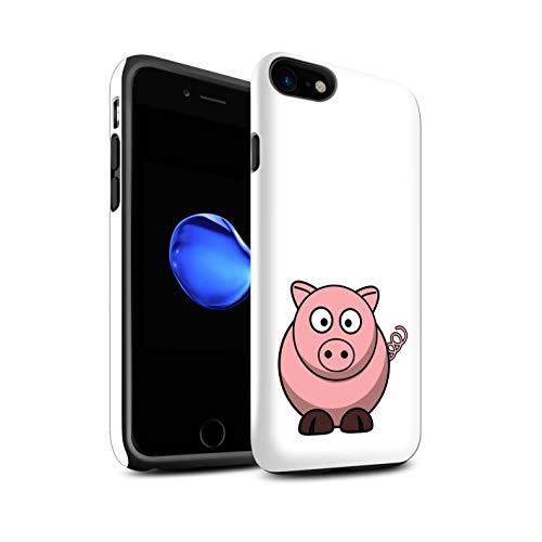 Stuff4 Telefoonhoesje/Cover/Skin/IP-3DTBG / Cartoon Zoo Animals Collectie Apple iPhone SE 2020 varken