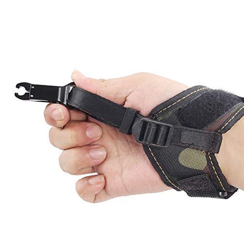 CARACHOME 1pcs Tiro con L Arco Camo Release Adult Caliper per Adulti, Accessori da Caccia per Prua per Composto Arco di Fiocco tiro in Trigger Fibbia Cinturini da Polso