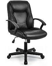 IntimaTe WM Heart Ergonomische bureaustoel, computerstoel, zitting van kunstleer, in hoogte verstelbaar, gevoerde zitting, zwart