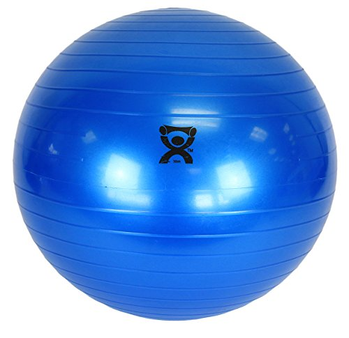 Cando Non-Slip Vinyl Inflatable Exercise Ball, Blue, 11.8
