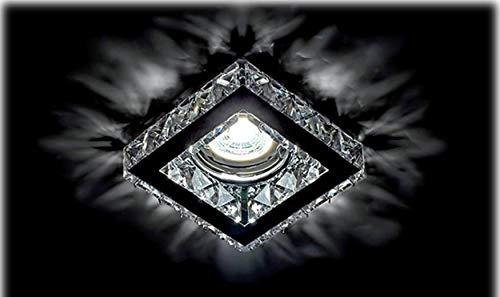 Kristall Deko Einbaustrahler MR16 GU10 GU5.3 Lampe Spot licht Quadrat 773S/CL