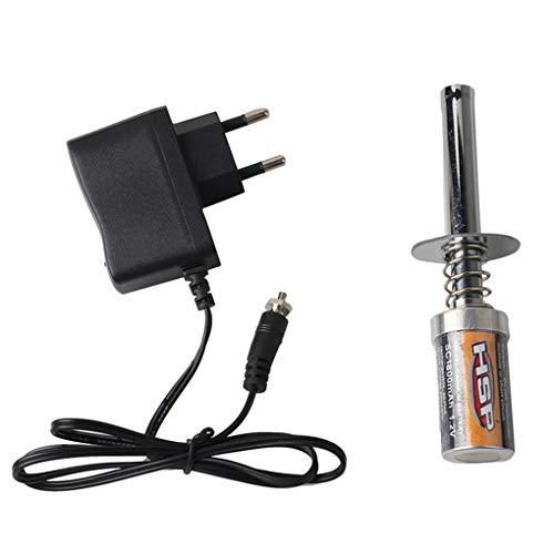 Diamoen Reemplazo Starter Kit de bujías incandescentes Encendedor Cargador de batería para HSP Redcat Nitro Potencia 1/8 1/10 RC Car