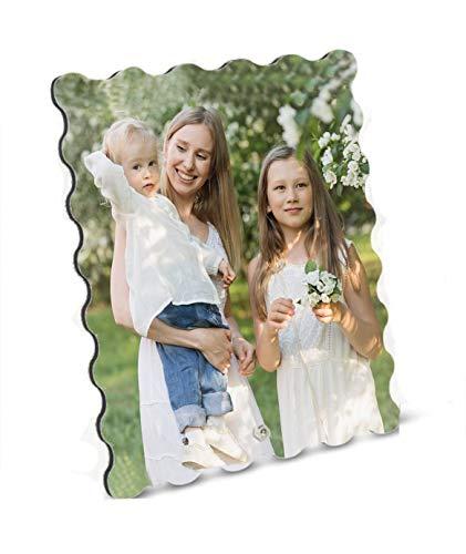 Marco De Fotos Sello Personalizable Medida 17x20cm. con Tu Texto Imagen Nombre. Varios tamaños y Formas Disponibles. Regalo Original