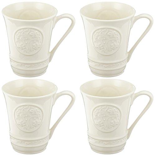 Belleek Pottery Irish Craft Mugs, 10-Ounce, White, Set of 4