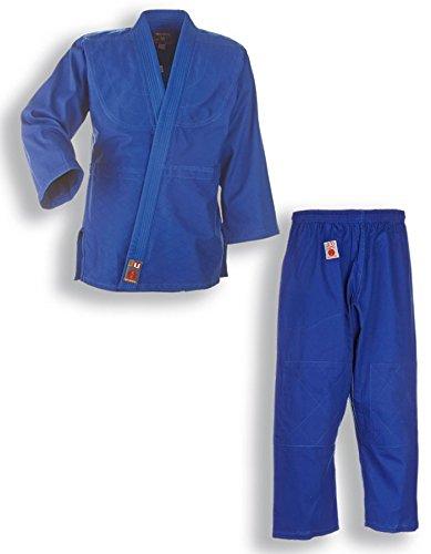'Traje de Judo Judogi To Start Azul con Blanco Correa para niños y Principiantes, 9002, 110–200, Color Azul, tamaño 120