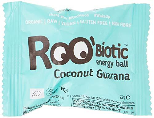 ROOBiotic Energy Ball Kokos + Guarana (bio, roh, vegan) probiotische Rohkost-Kugel
